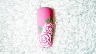 How To Paint Roses On Nails ♡ Flower Nail Art ♡