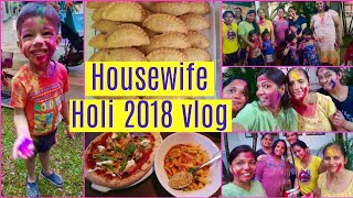 Indian Housewife Holi Vlog 2018 | SuperPrincessjo
