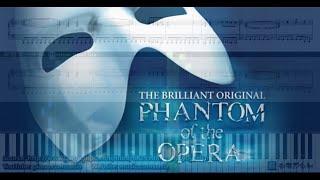 The Phantom of the Opera 歌劇魅影 (Piano Tutorial) Synthesia 琴譜
