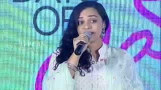 Nithya Menen Singing Hrudayam Kannulatho Song @ 100 Days of Love Audio Launch | TFPC