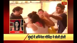 Mumbai Live: Watch how did Govinda celebrate Holi