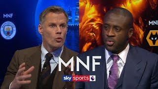Jamie Carragher and Yaya Toure debate who will win the Premier League   MNF