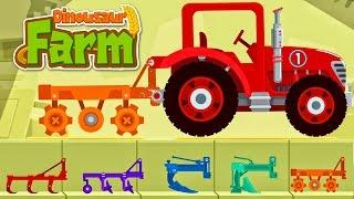 Dinosaur Farm - Tractor & Truck | Car Driving for Kids : Dinosaur Cartoons Videos for Children