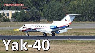 Czech Air Force Yakovlev Yak-40 landing in Berlin TXL