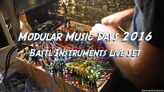 Modular Music Days 2016 - Bastl Instruments Live Set