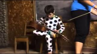 Robert Johnson - Me and the Devil Blues - played by awesome little boy in football pijama
