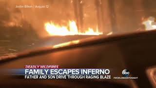 Family narrowly escape deadly wildfire in Montana ABC News