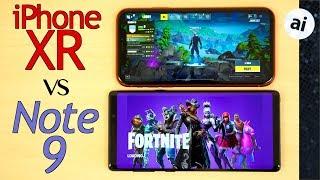 Fortnite: 60 FPS on iPhone XR vs 30 FPS on Note 9!