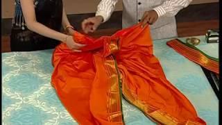 Easy ready made Brahmani Saree with English subtitles