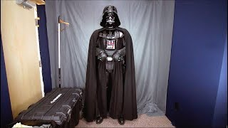 Putting on a movie accurate Darth Vader suit