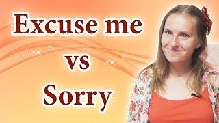 Excuse me vs Sorry + Pardon - common mistakes in English