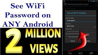 How To See The WiFi Password on ANY Android Phone 100% Successful 2017!!