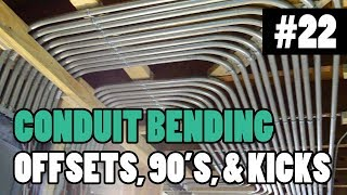 """Episode 22 - How To Bend Conduit - 1/2"""" 3/4"""" and 1"""" EMT - BENDING 90s, OFFSETS, BOX OFFSETS, & KICKS"""