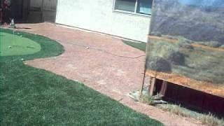 My back yard mini golf course 9-3-10