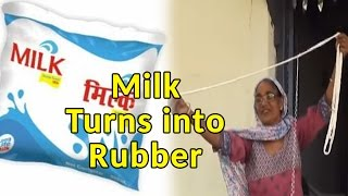 Shocking! Milk Turns into Rubber While Heating