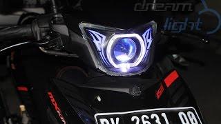 Yamaha MX King Custom Headlamp Projector Fortuner VRZ custom alis RGB Android