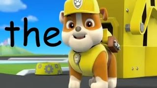 Kindergarten sight words Paw Patrol I learning video's for kids I Popcorn words I High frequency