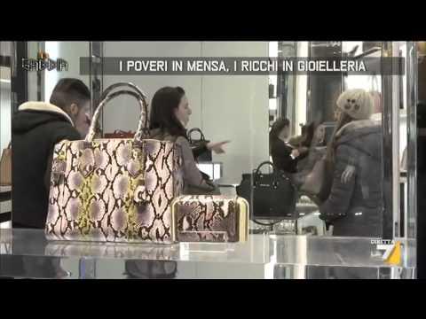I poveri in mensa i ricchi in gioielleria