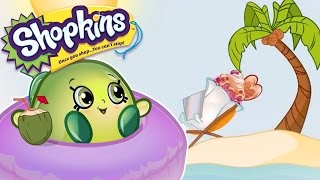 SHOPKINS 🌴  AT THE BEACH |🌴  Cartoons For Kids | Toys For Kids | Shopkins Compilation