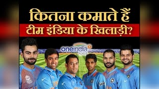 Indian Cricket player's salaries and highest paid cricketers in 2016 । वनइंडिया हिंदी