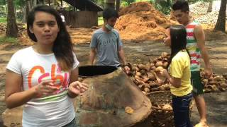 Coconut shell charcoal making