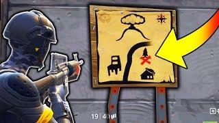 NEW *SECRET* TREASURE MAP IN FORTNITE!!! (Fortnite Battle Royale Easter Egg)