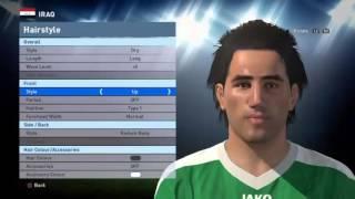 تعديل وجوة المنتخب العراقي بيس 2016 من داخل اللعبه لـ(ps3, ps4, xbox360, xbox1,pc