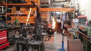 Forging a Witcher 3 wolf sword, part 1, forging the blade.