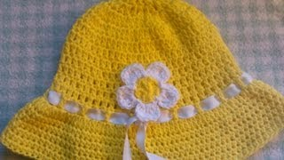 Download Easy to crochet sun hat / summer hat/ gorra para el sol y verano 3Gp Mp4