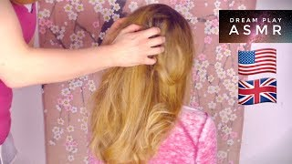 ★ASMR [english]★ 3k SPECIAL Relaxing Hair Brushing, Hairplay & Neck Massage | Dream Play ASMR
