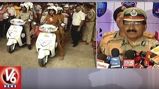 Hero Motocorp CSR Initiative By Handing Over Patrolling Scooters To TS Police For SHE Team | V6News