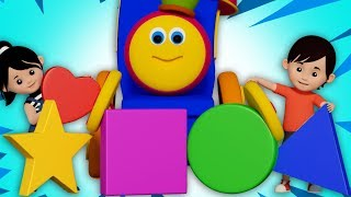 Shapes Rolling Shapes Song Learn Shapes Nursery Rhymes Songs For Child Bob the train S03EP045