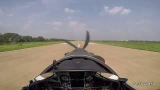 PC-9 Landing 360 overhead.