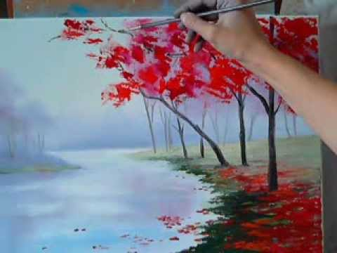 Как нарисовать картину осень начинающих поэтапно