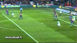 اهداف برشلونة 4-2 ريال بيتيس تعليق حفيظ دراجي