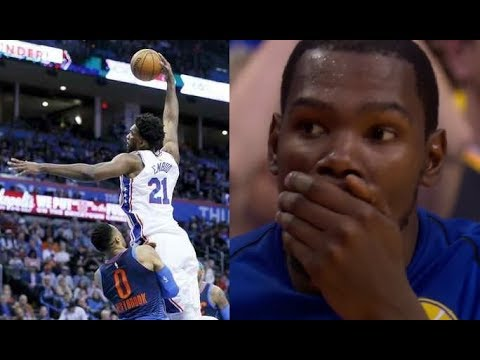 Most humiliating plays of the 2017 2018 NBA Season LeBron Embiid Harden