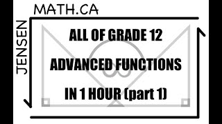 All of Grade 12 Math - Advanced Functions - IN 1 HOUR!!! (part 1)