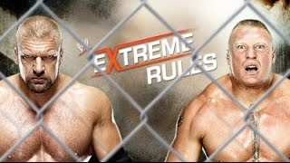 WWE Extreme Rules 2013 ► Brock Lesnar vs Triple H [OFFICIAL PROMO HD]