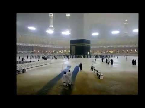 Rain in Masjid Al Haram Makkah Mecca Kingdom of Saudi Arabia
