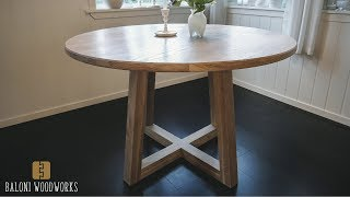 Making a ROUND DINING TABLE!