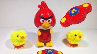 العاب اطفال لعبة Angry birds اللي بتمشي و تغني و تلف و تطلع نور و تلعب مع الكتاكيت الجديدة