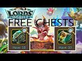 How to get free Noceros & Griphon chests -LORDS MOBILE-