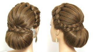 Beautiful Wedding Bun Hairstyle For Long Hair