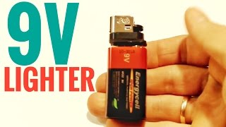 How to make a cool electric lighter from a 9v battery