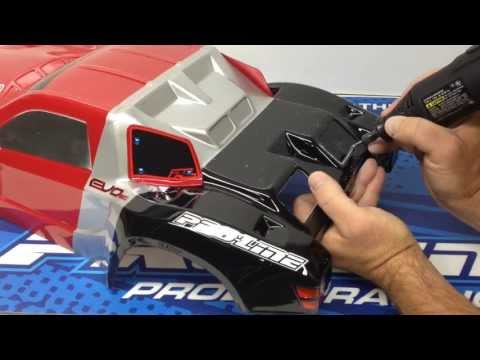 Pro-Line EVO, Flotek SCT Bodies - How to cut out panels