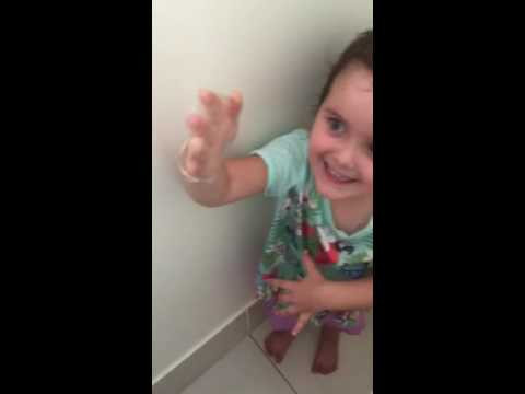 Little Girl Mistakes a Condom for a Glove