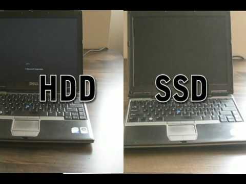Stock Hard drive vs SSD Boot time comparison - Dell Latitude D430