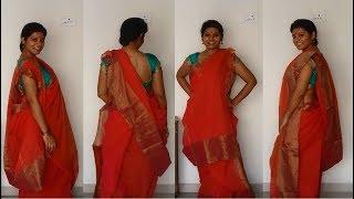 BENGALI Atpoure Saree drape without pleats!