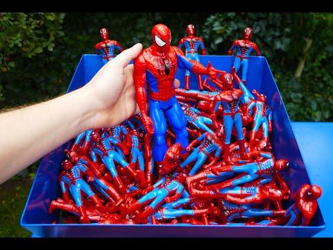 SHREDDING 100 SPIDERMAN TOY FIGURES