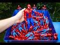 Download Video Download SHREDDING 100 SPIDERMAN TOY FIGURES! 3GP MP4 FLV